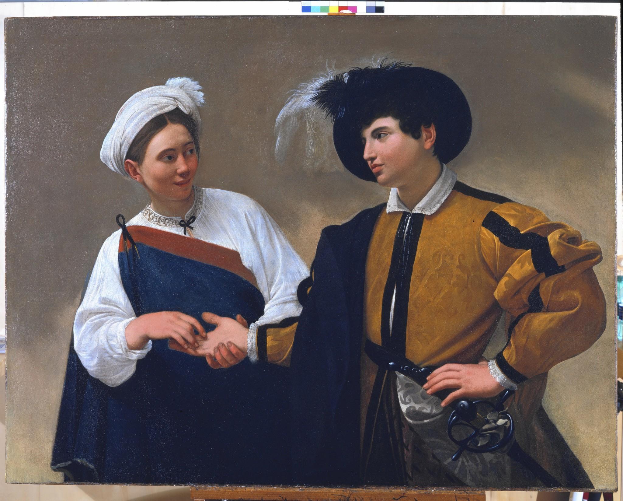 """""""The Fortune Teller,"""" by Caravaggio, ca. 1594-95."""