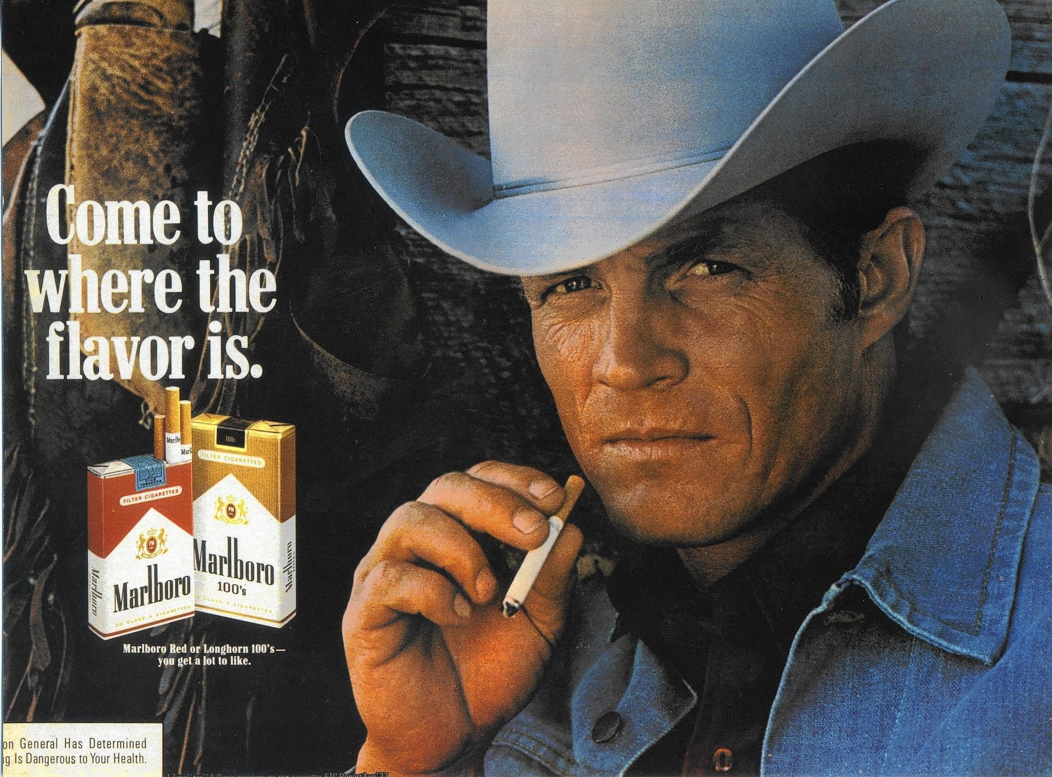 Eric Lawson, who portrayed the rugged Marlboro man in cigarette ads during the late 1970s, died Jan. 10 at his home in San Luis Obispo of respiratory failure due to chronic obstructive pulmonary disease. He was 72.