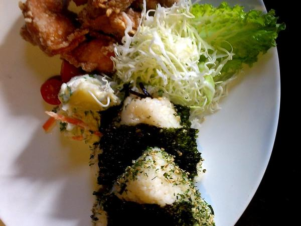 Mama Musubi's pop-up at Toranoko includes rice ball specials and set menus, such as two rice balls with fried chicken, salad and miso soup.
