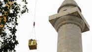 Engineers inspect Washington Monument in preparation for restoration