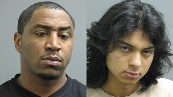 Booking photos of two men charge with traffic offenses in Riverside: Darius D. Johnson and Michael Velazquez (from left)
