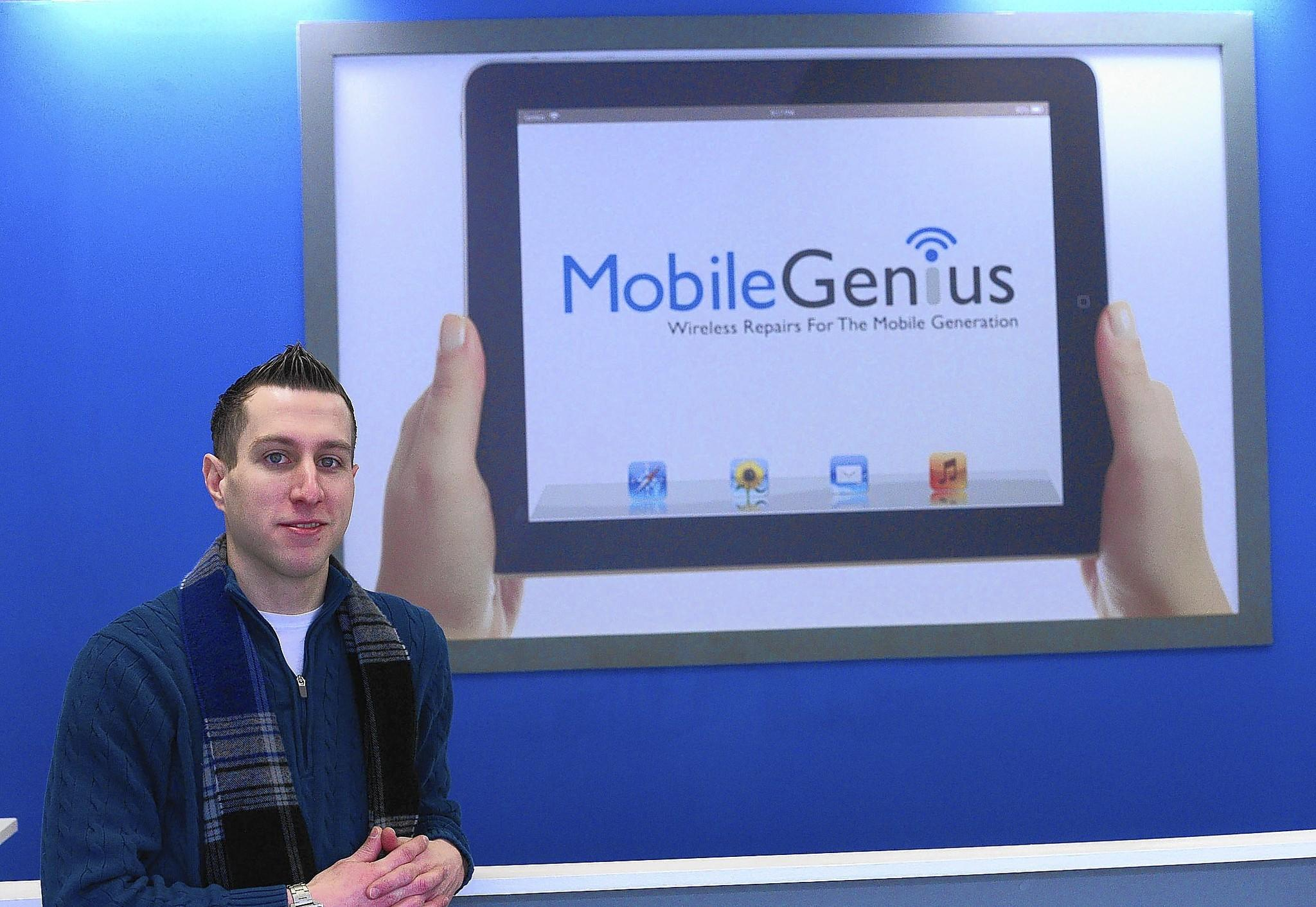 Josh MacGown, founder and CEO of Moble Genius, has opened a second location at 7 W. Fourth St. in Bethlehem.