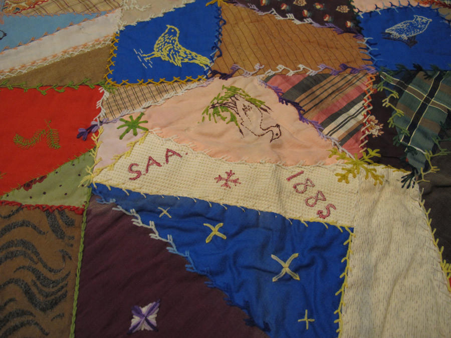 Detail of a quilt in the CHS collection.