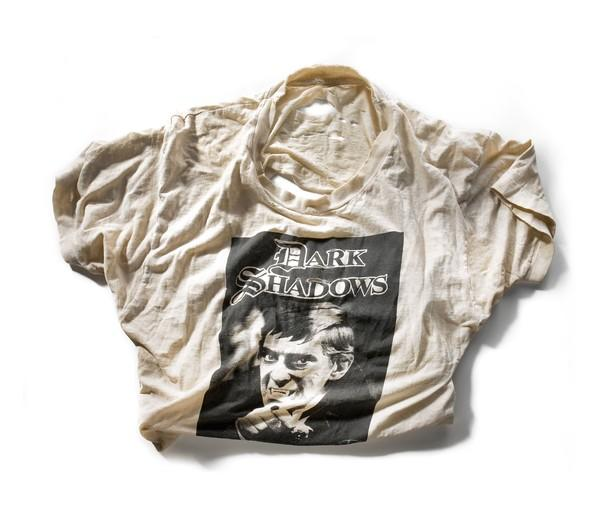 """Jacquetta says of her """"Dark Shadows"""" T-shirt: """"I don't normally keep things like this, I'm not like a hoarder, but it had sentimental value to me,"""" even though she acquired it as an adult in the '80s, long after the show was cancelled."""