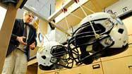 Banging helmets to reduce brain injuries