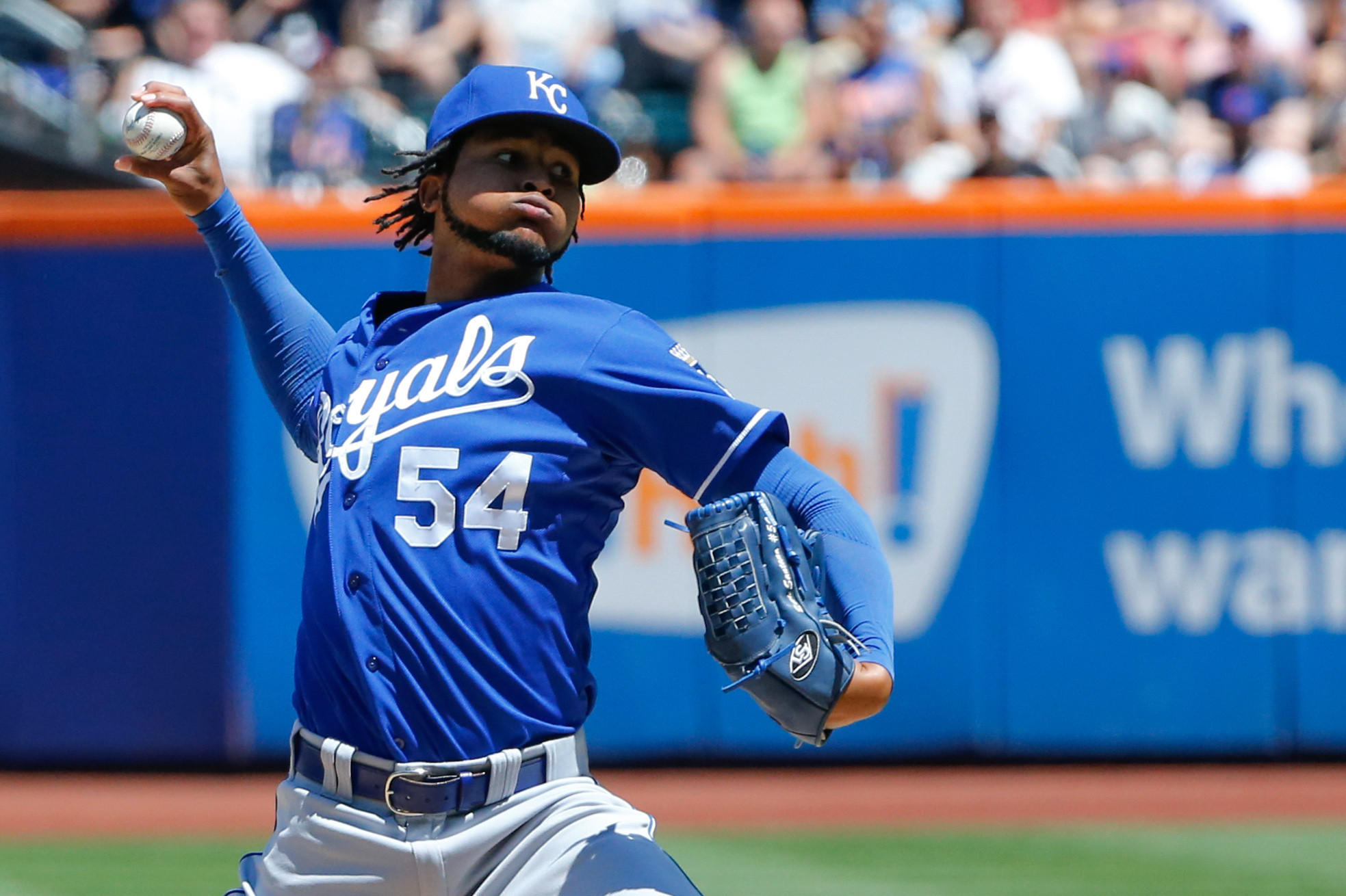Ervin Santana pitched for the Kansas City Royals last season.