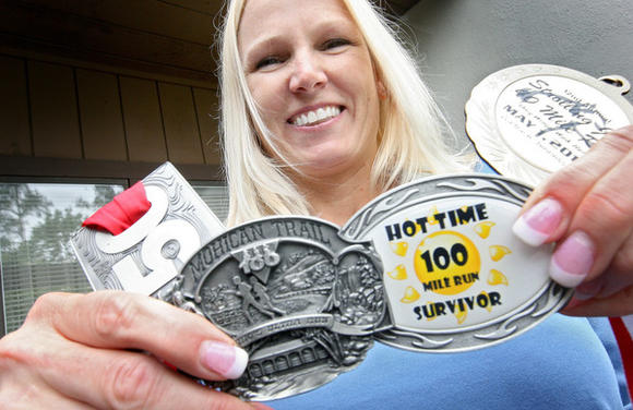 Cheryl Lager is training for a 200-mile race over Memorial Day weekend in Florida