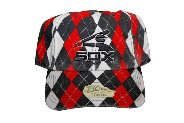 Argyle White Sox baseball cap, $25, available at U.S. Cellular Field.