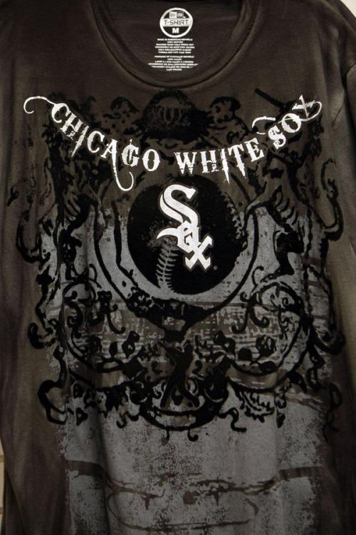 Flocked velvet White Sox T-shirt, $45, available at U.S. Cellular Field.