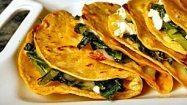 Recipe: Quesadillas stuffed with greens and feta