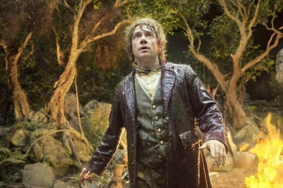 "Actor Martin Freeman in scene from ""The Hobbit: An Unexpected Journey"""