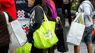What's in your shopping bag? Bacteria