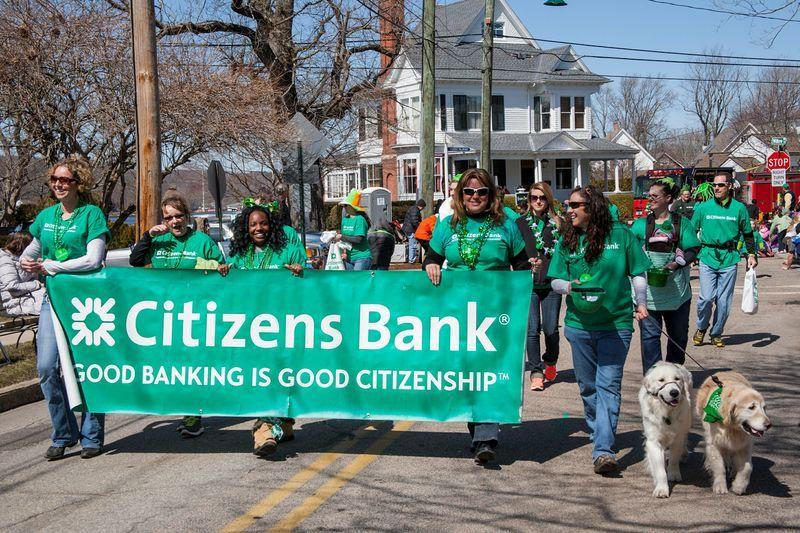 Citizens Bank colleagues marched in several parades last year.