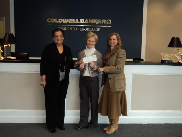 The Coldwell Banker Residential Brokerage office in West Hartford recently donated $2,150 to Operation Fuel. From left to right: Pat Wrice, executive director of Operation Fuel; Lynn McDonald, director of development at Operation Fuel; and Rosemary Gunning, sales manager of the Coldwell Banker West Hartford office.