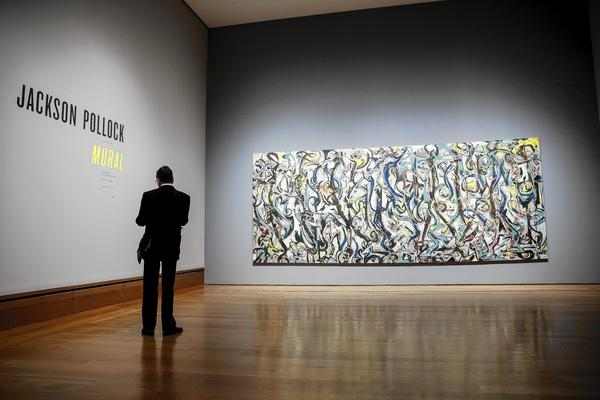 "Jackson Pollock's  ""Mural,"" regarded by some as the most important modern American painting ever made, is the focus of a Getty exhibition opening Tuesday"
