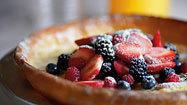 Citrus popover pancakes