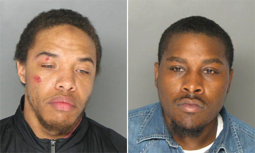 Charles Dante Patterson (left) and Kenneth Alexander Brooks II (right) are charged with attempted first-degree murder and other charges. Police say the men targeted a 19-year-old man riding in a Dodge minivan in retaliation for the man testifying against their brother in a robbery case. A 2-year-old girl was injured in the shooting.