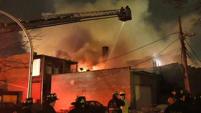 Crews battle extra-alarm fire in Irving Park