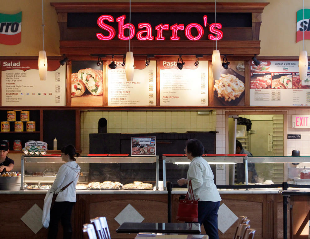 Sbarro filed for bankruptcy for the second time in three years.