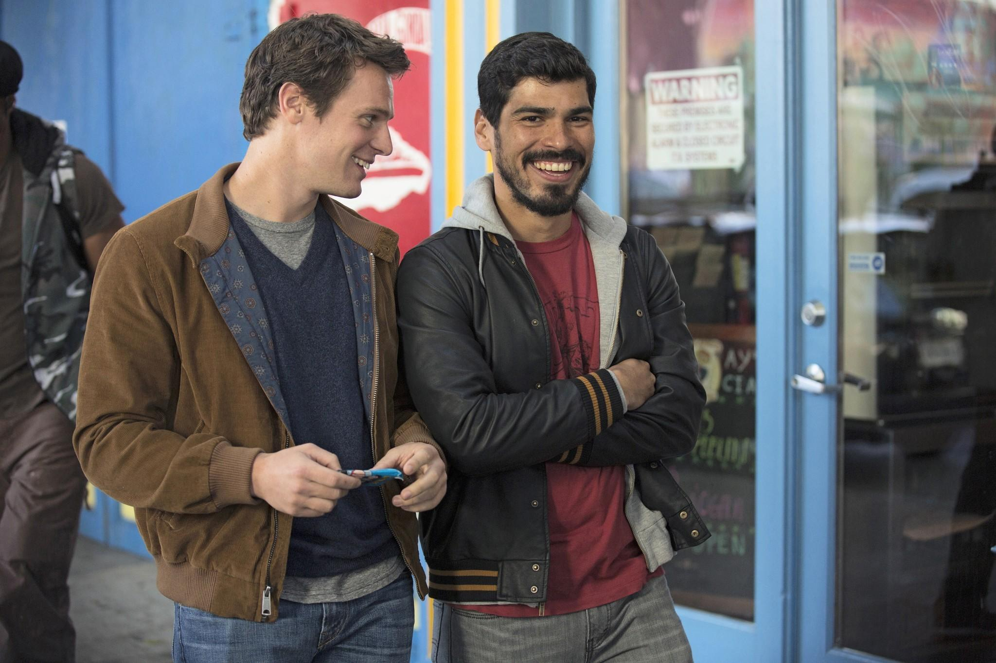 "Jonathan Groff, left, and Raul Castillo in the HBO's series ""Looking."""