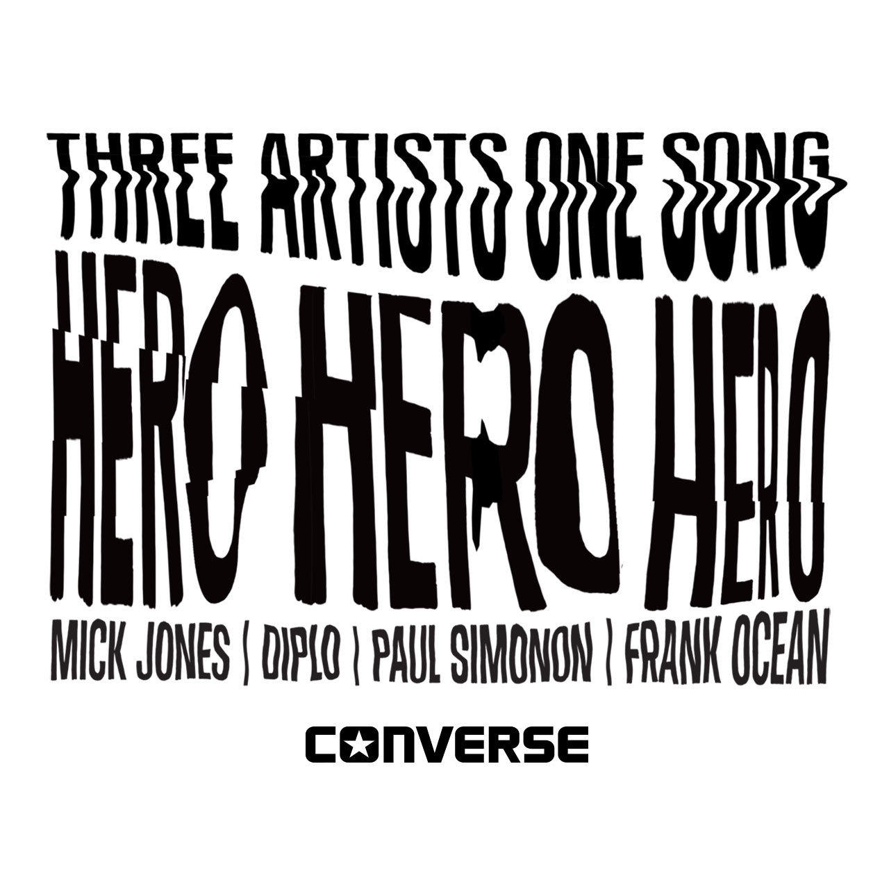 "Frank Ocean, Diplo and Mick Jones and Paul Simonon of the Clash recorded a new song, ""Hero,"" for the shoemaker Converse."