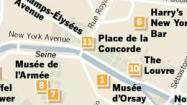 Map: Paris sights