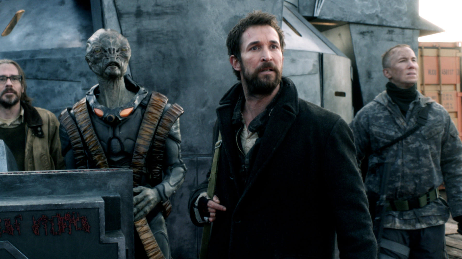 "Noah Wyle (beard) and ""Falling Skies"" will return June 22 on TNT."
