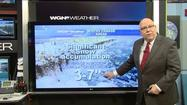 "Video: High of 56 today; 3-7"" of snowfall tomorrow"