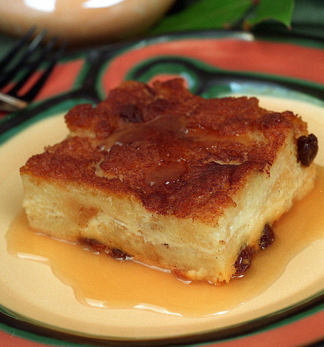 Gilliland's Irish bread pudding with caramel-whiskey sauce
