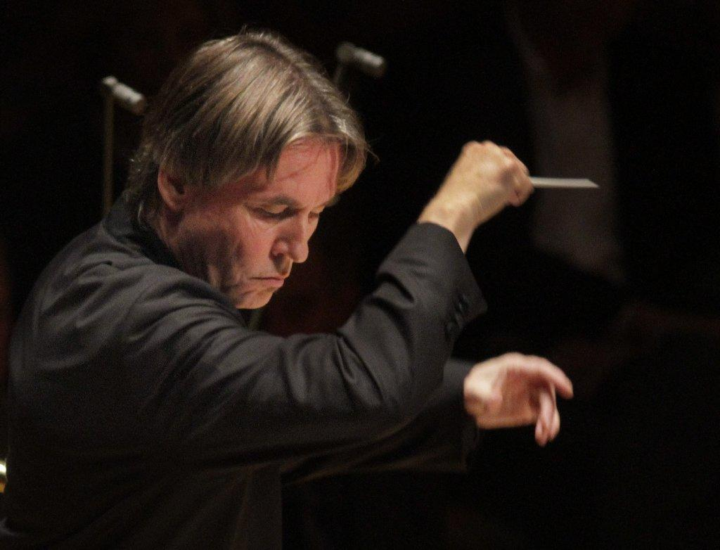 Esa-Pekka Salonen, shown conducting at Walt Disney Concert Hall in October, on Monday was named the winner of a $100,000 prize for music composition.