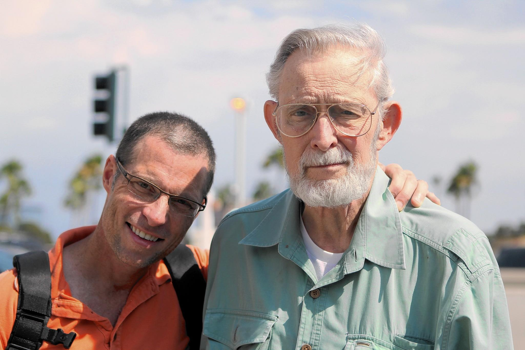 David Stiller, seen here circa 2008 with son Eric, left, died at the age of 78 on Sunday. The longtime Costa Mesa resident and Navy veteran served on a variety of city committees, including one for the senior center and Fairview Park.