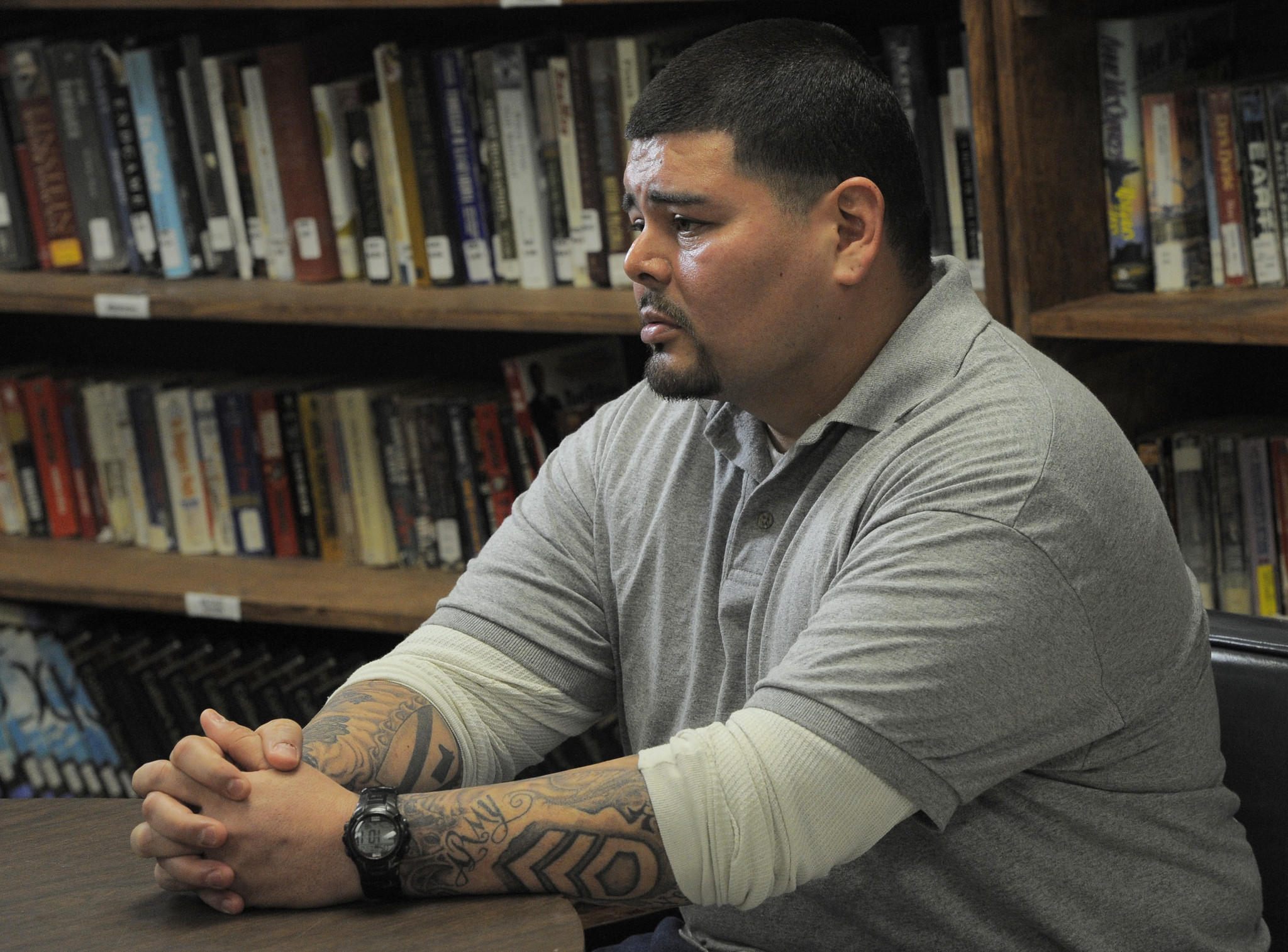 Christian Rojas, 33, who is nearing release from the Eastern Correctional Institute (ECI), is a veteran of the Iraq war. Rojas left the Army as a staff sergeant in 2010.