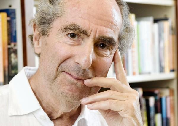 Author Philip Roth in the offices of his publisher Houghton Mifflin in New York.
