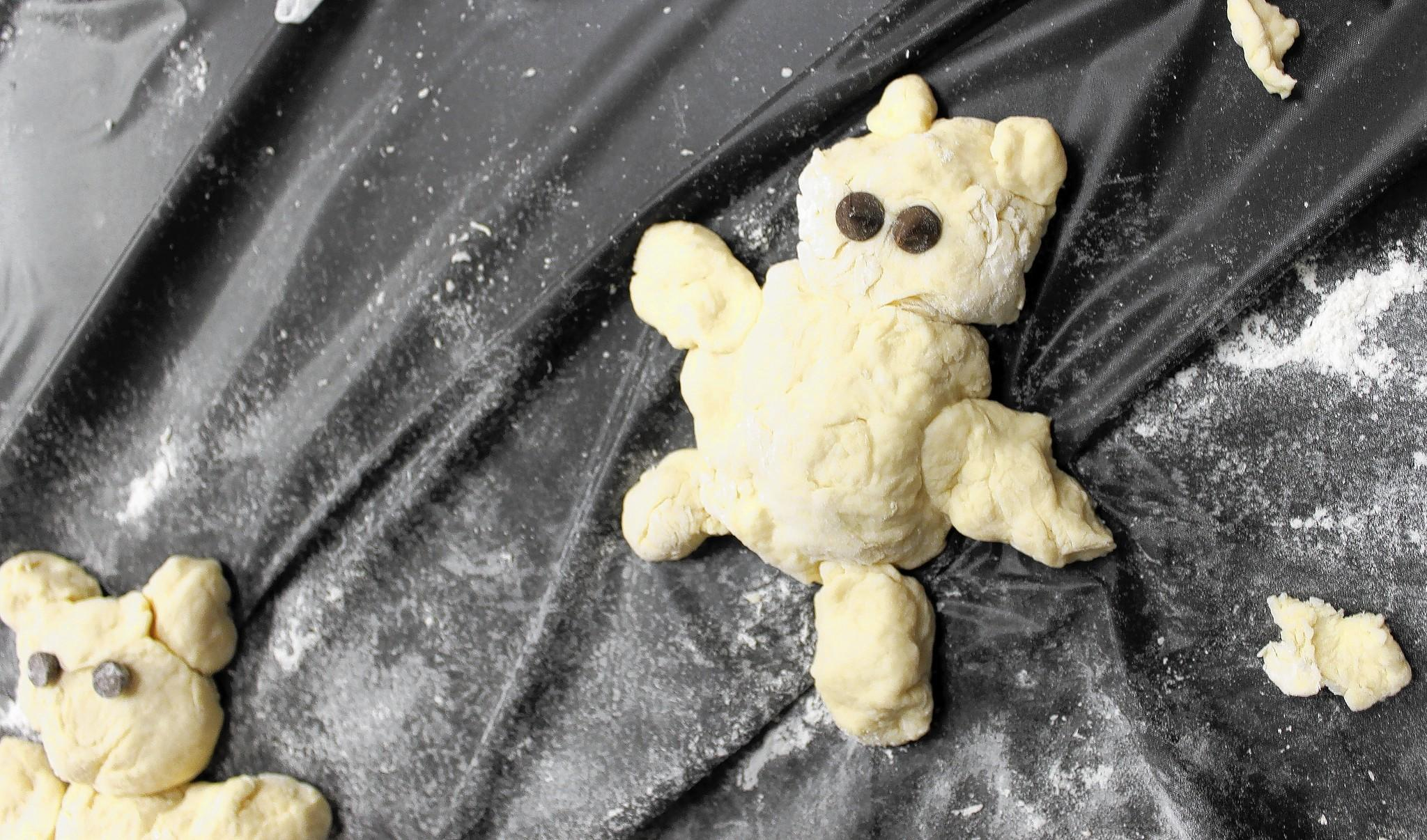 Kids created bread bears, complete with chocolate chips for eyes, in a recent bread-making class at Stew Leonard's in Newington.