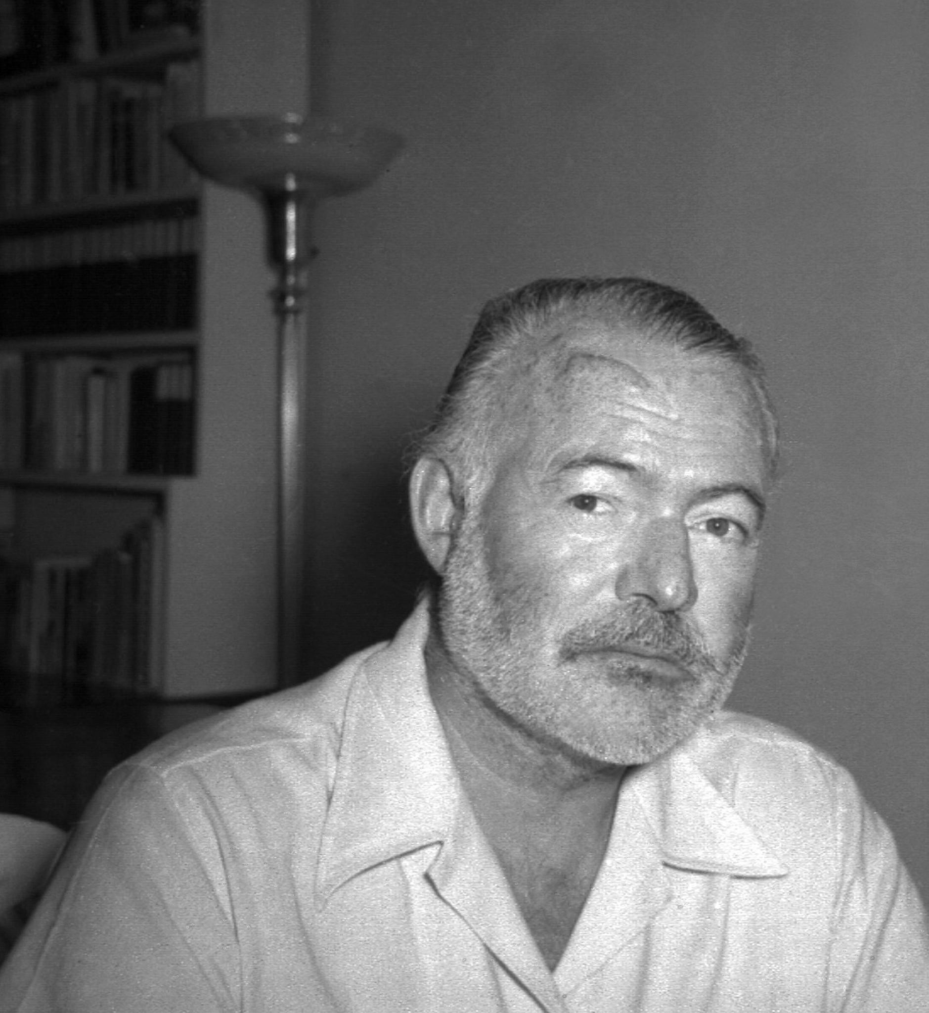 Ernest Hemingway at his Cuban country home near Havana in 1950. Hemingway wrote a letter, now up for auction, to film star Marlene Dietrich from the home in 1955.
