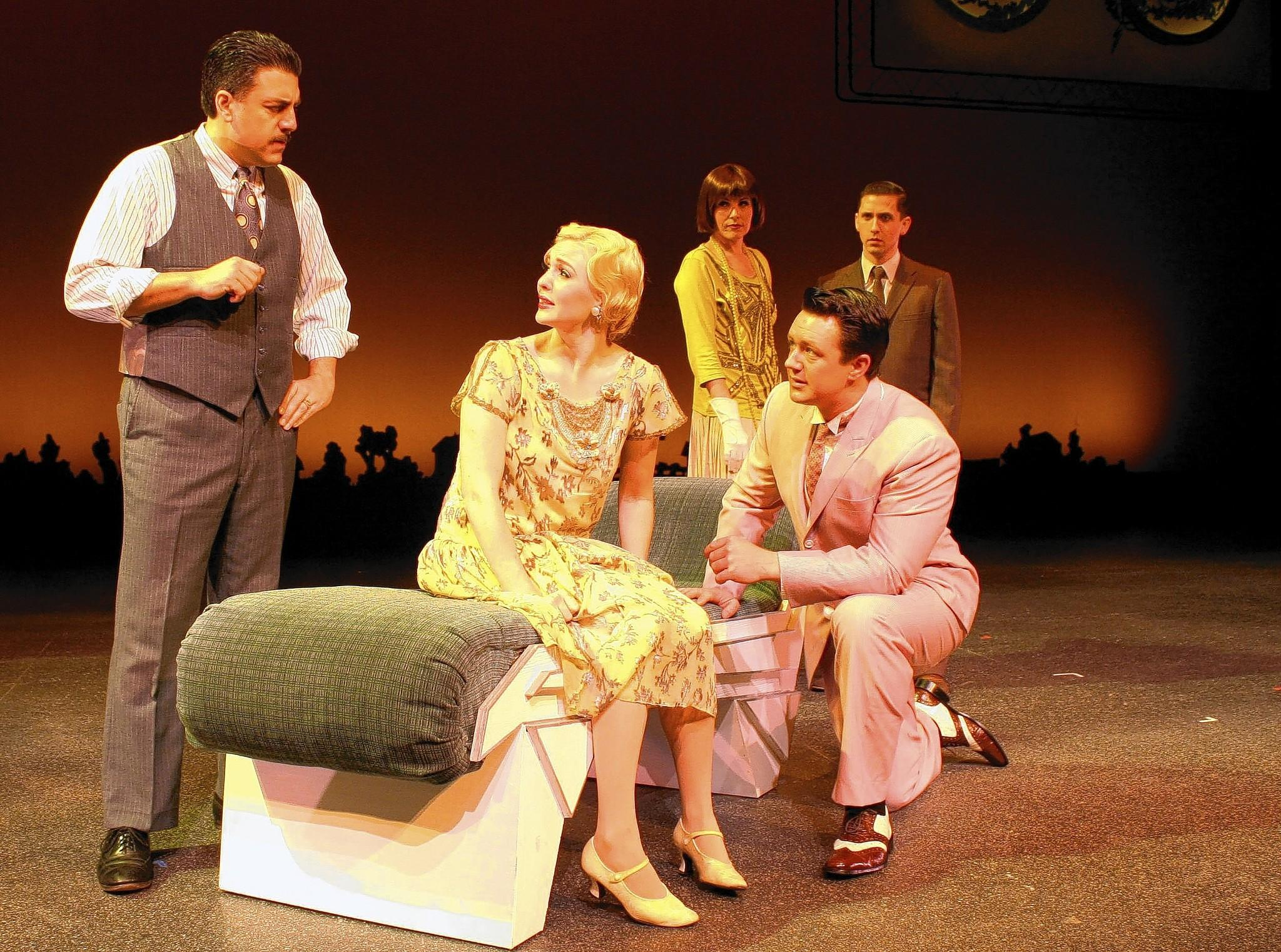 "From left to right: Jack Clark, Mikayla Richards, Brock Joseph, Michelle Terrill and Jeremy Krasovic star in F. Scott Fitzgerald's ""The Great Gatsby"" at Golden West College, adapted for the stage by Simon Levy and directed by Tom Amen."