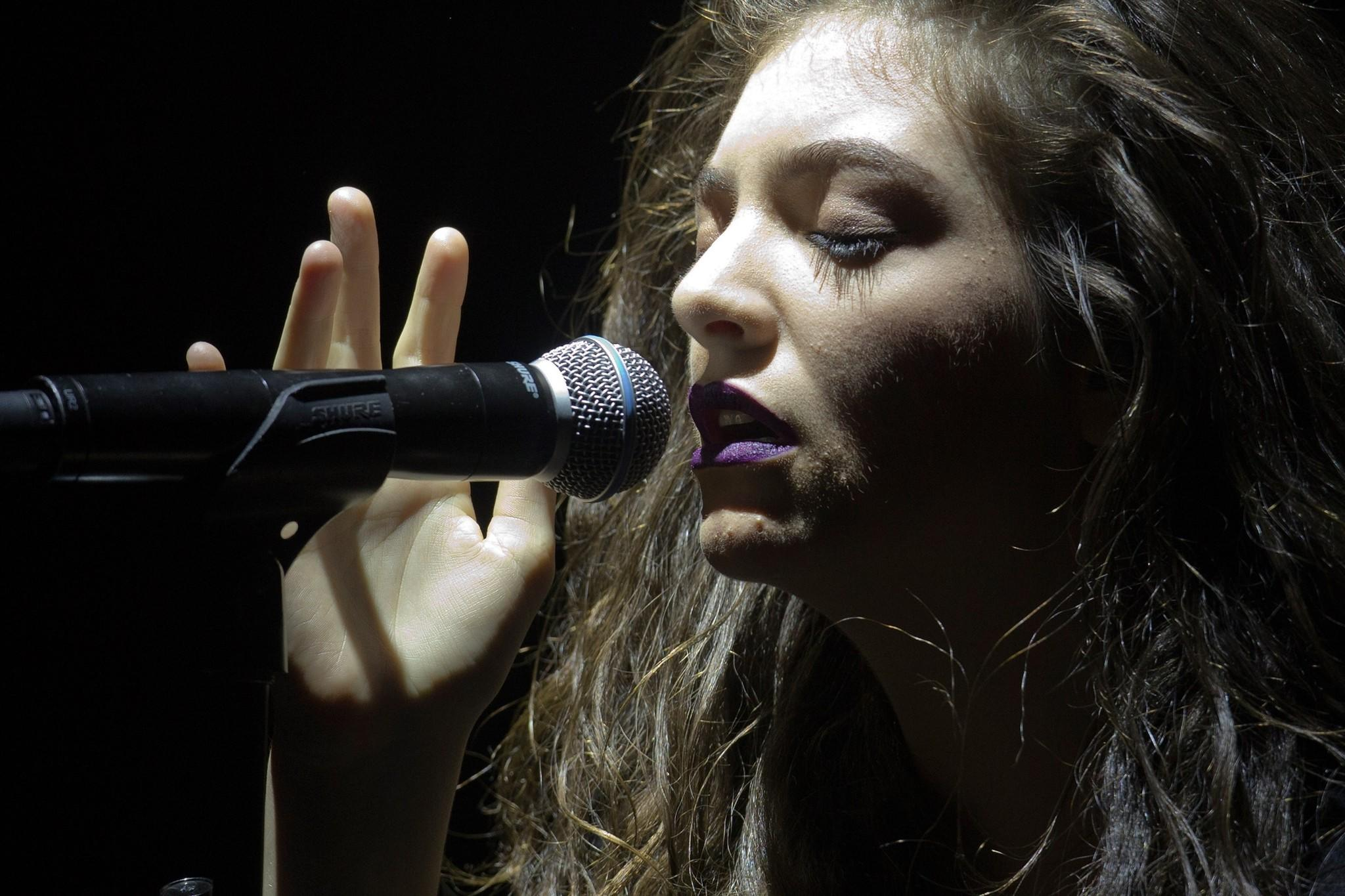 Singer-songwriter Lorde performs at the Roseland Ballroom in New York.