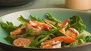 Shrimp, avocado salad with soda pop dressing