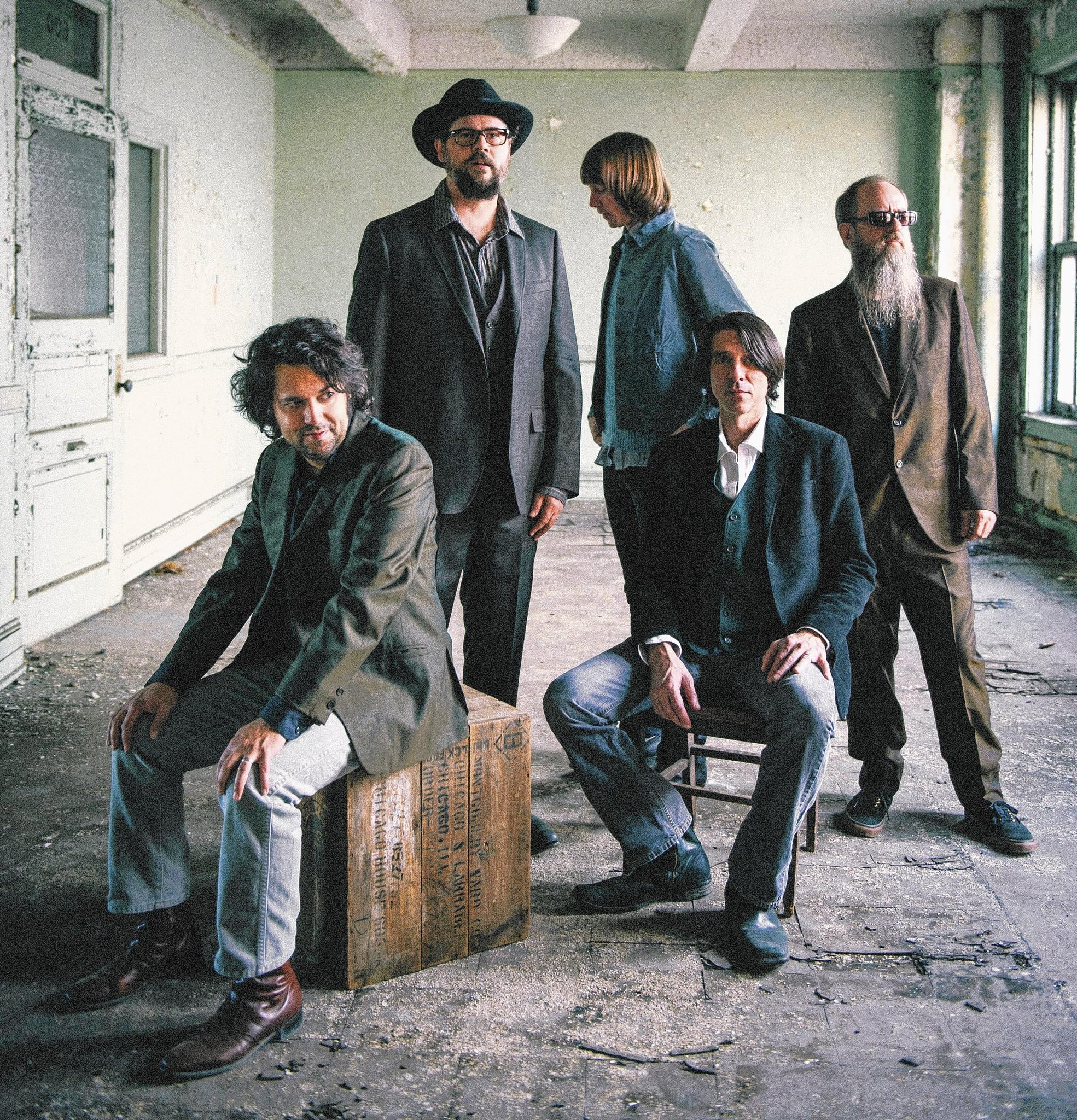 Drive-By Truckers, left to right: Jay Gonzalez, Patterson Hood, Matt Patton, Mike Cooley, Brad Morgan.