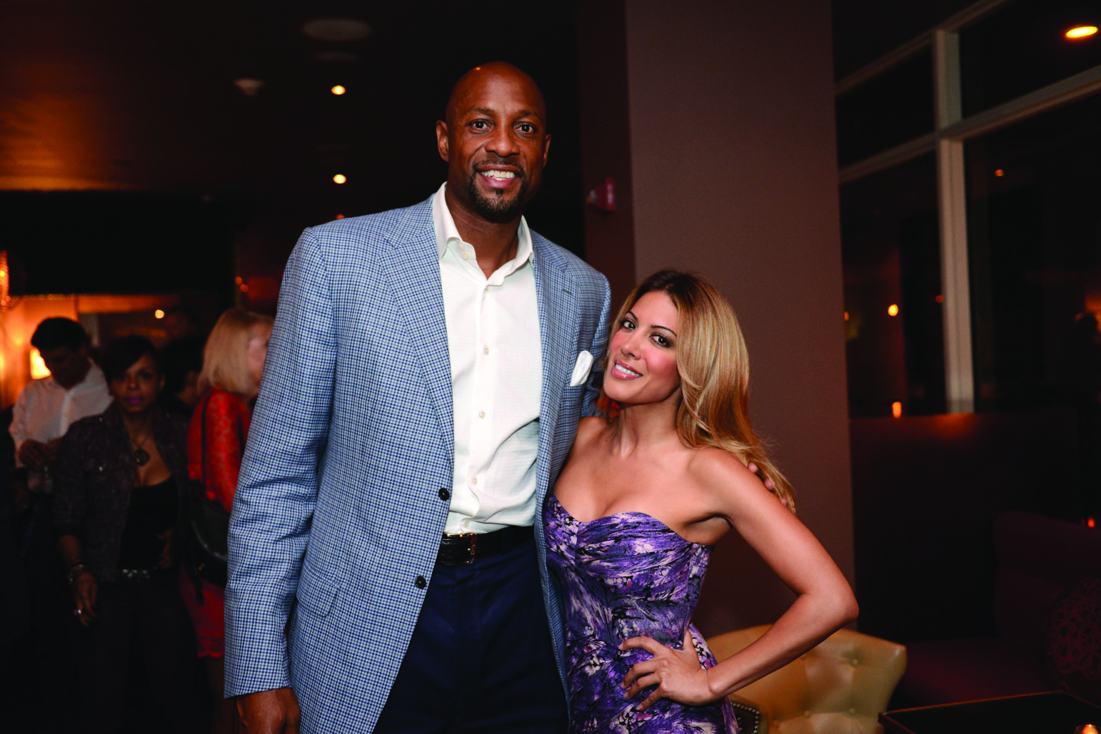 Celeb-spotting around South Florida - Alonzo Mourning, left, and Kavita Channe recently attended a VIP dinner and cocktail party at Beauty & The Feast Bar|Kitchen in The Atlantic Hotel & Spa in Fort Lauderdale.