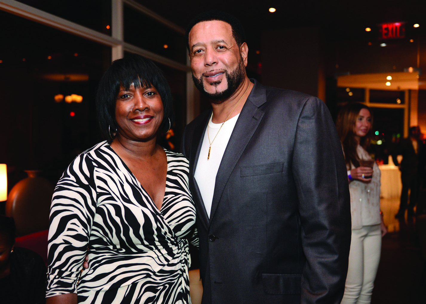 Celeb-spotting around South Florida - Former Miami Heat player Alonzo Mourning recently hosted a VIP dinner and cocktail party at Beauty & The Feast Bar|Kitchen in The Atlantic Hotel & Spa in Fort Lauderdale. Almarie Chalmers, left, and Ronnie Chalmers were among the more than 100 guests who came out to show their support.