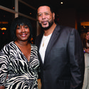 Former Miami Heat player Alonzo Mourning recently hosted a VIP dinner and cocktail party at Beauty & The Feast Bar|Kitchen in The Atlantic Hotel & Spa in Fort Lauderdale. Almarie Chalmers, left, and Ronnie Chalmers were among the more than 100 guests who came out to show their support.