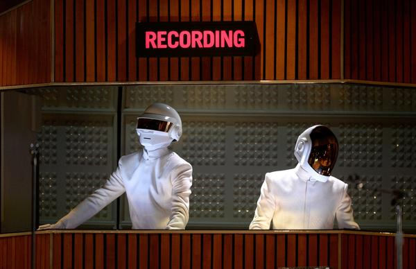 Daft Punk, at the Grammys in January, may have done a track with Jay Z. Or maybe not.