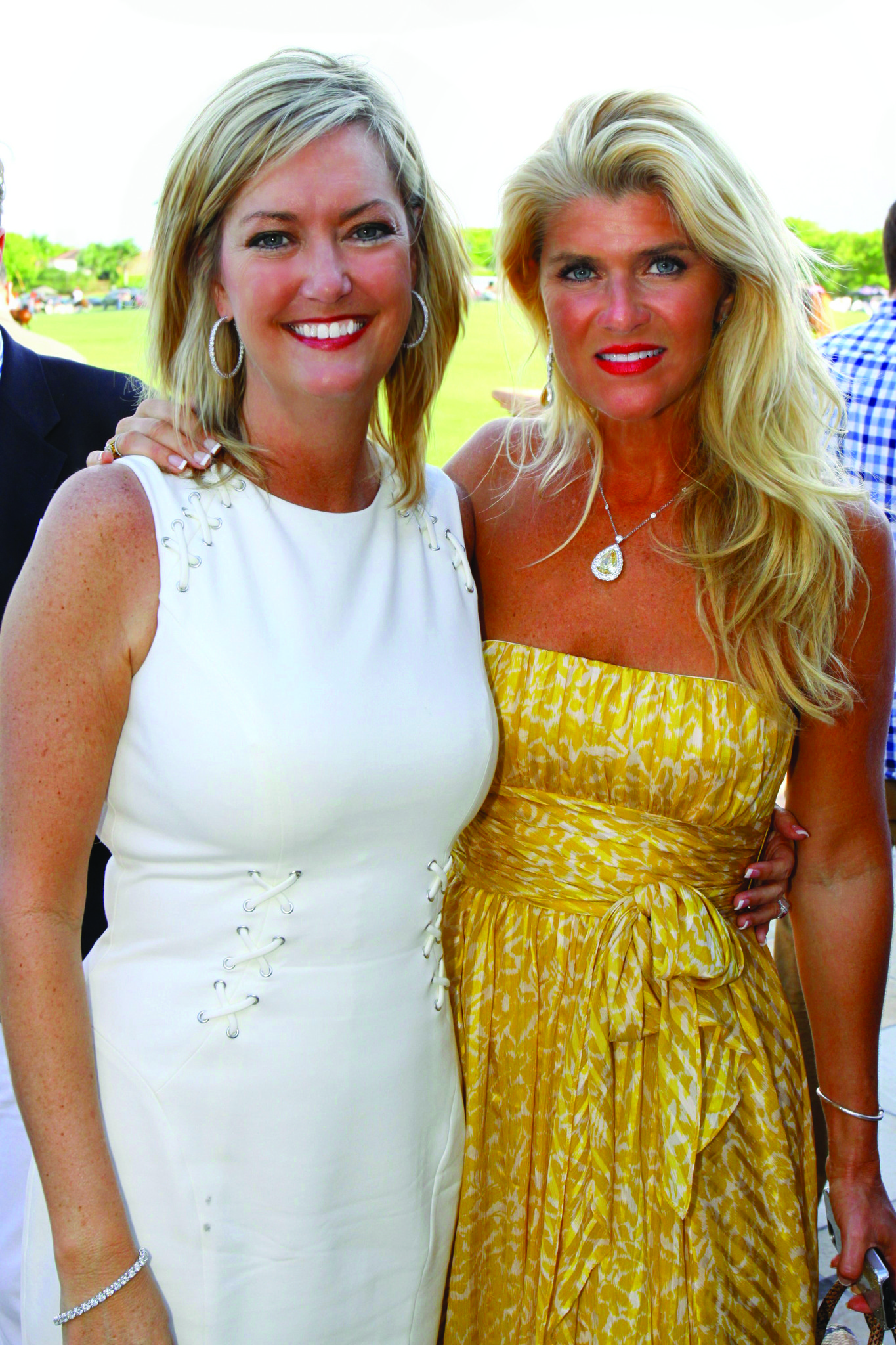 "Society Scene photos - Pam Phillips, left, and Melisa Hormung came out to support the Caridad Center for its recent ""Champagne, Hors d"
