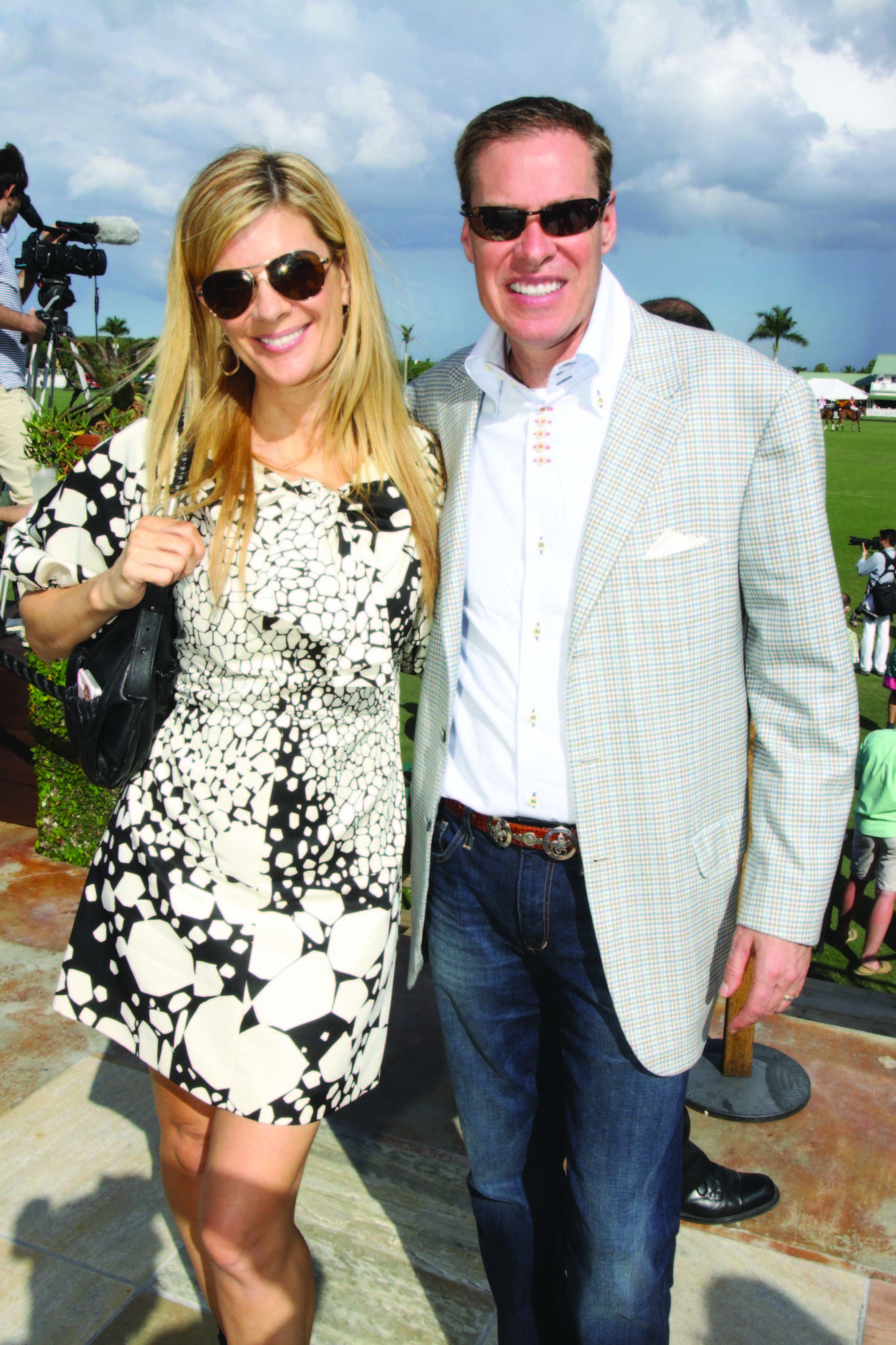 Society Scene photos - Mia Matthews, left, and Bob Matthews recently enjoyed the festivities of Caridad Center