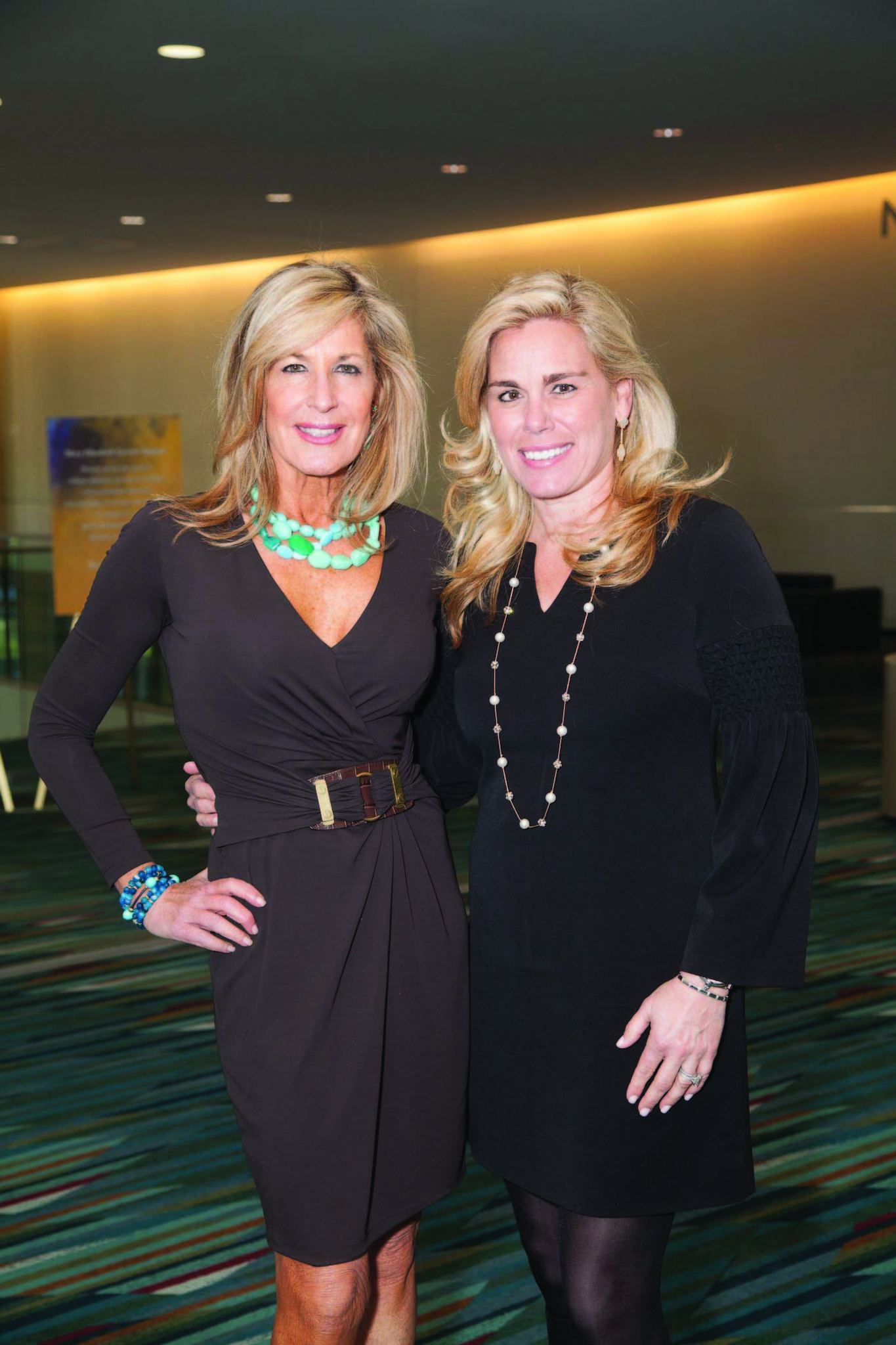 Society Scene photos - Beth Pine, left, and Trisha Keitel were among the more than 300 guests to attend Johns Hopkins Medicine