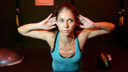 How does radio host Julie Guy stay fit?