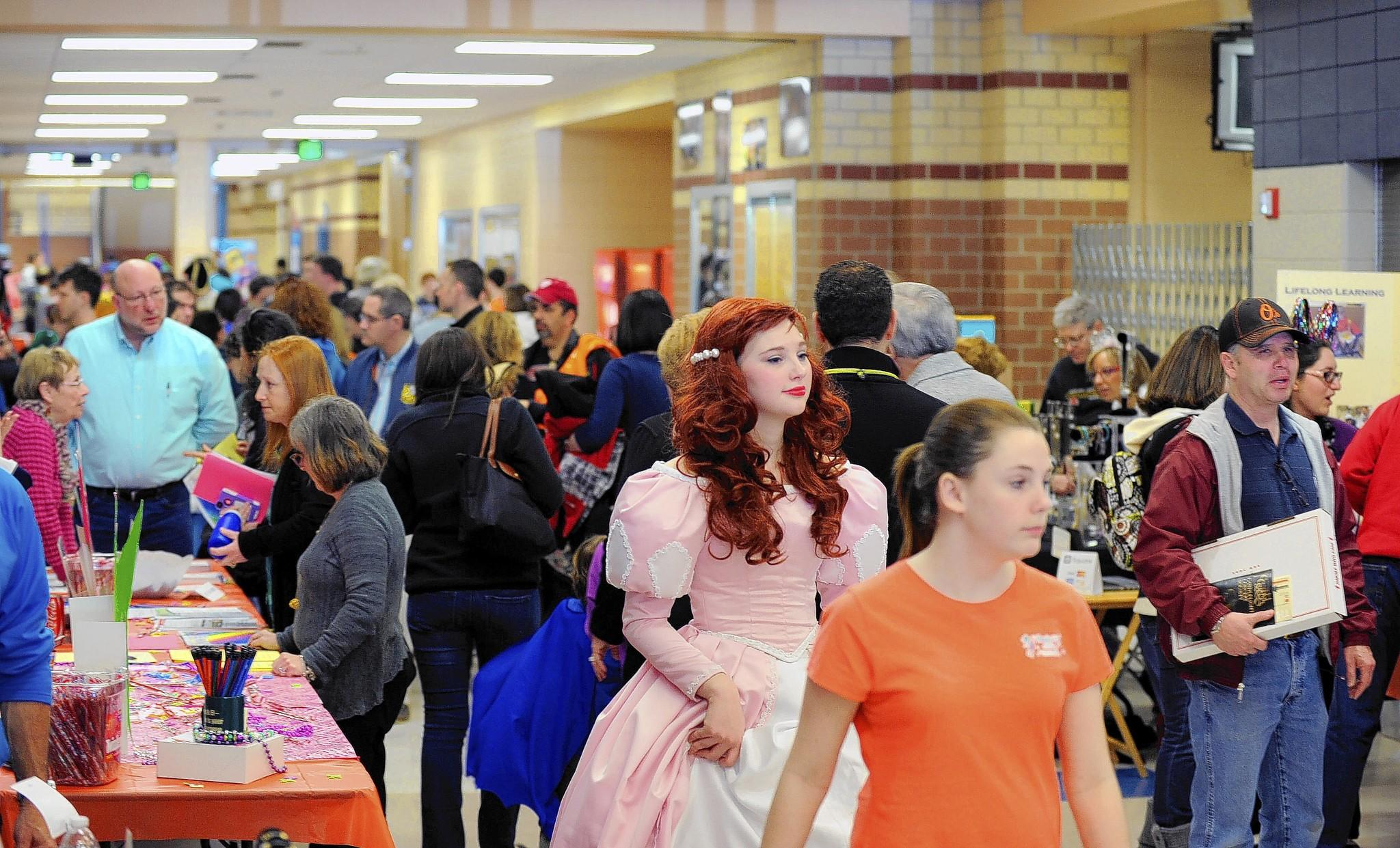 The Jewish Federation of Howard County 's Purim Palloza drew a large crowd Sunday, with many wearing costumes. The event included games and carnival refreshment to celebrate the Jewish holiday that commemorates the deliverance of the Jewish people in the ancient Persian Empire.