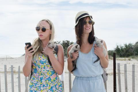 "Clare McNulty and Bridey Elliott in a scene from the comedy ""Fort Tilden,"" which had its world premiere at the 2014 South by Southwest film festival in Austin, Texas."