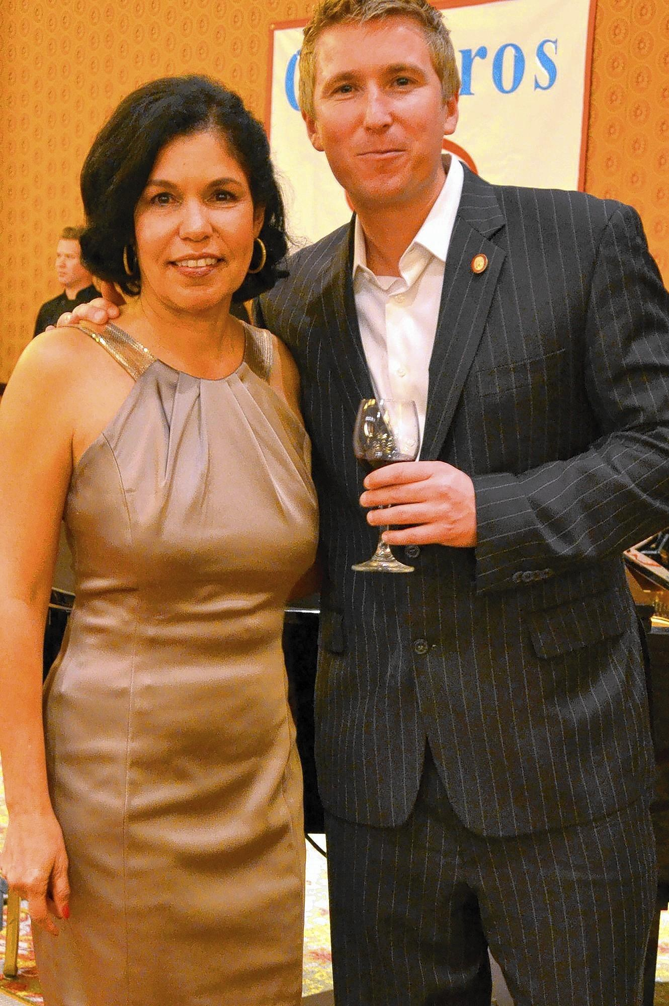 Elsa Greenfield, program director at Community Service Programs' Huntington Beach Youth Shelter, and Huntington Beach native Ian Cauble, founder of SommSelect.com and one of only 202 Master Sommeliers in the world.